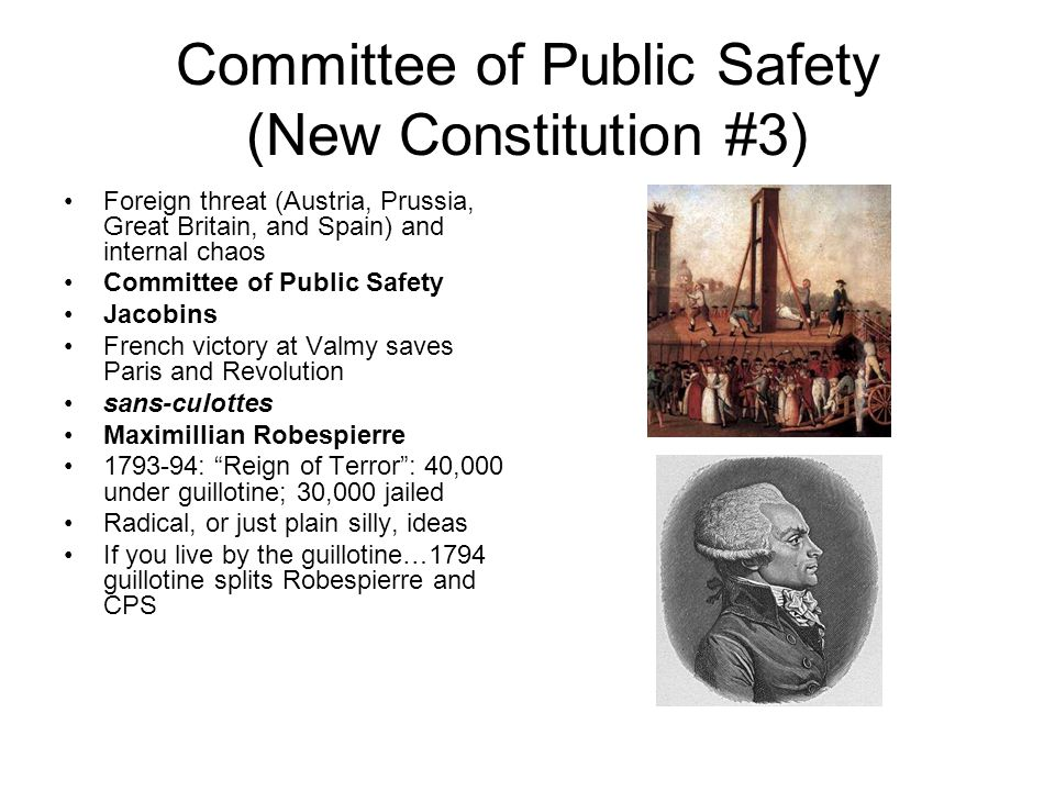 Committee of Public Safety (New Constitution #3)