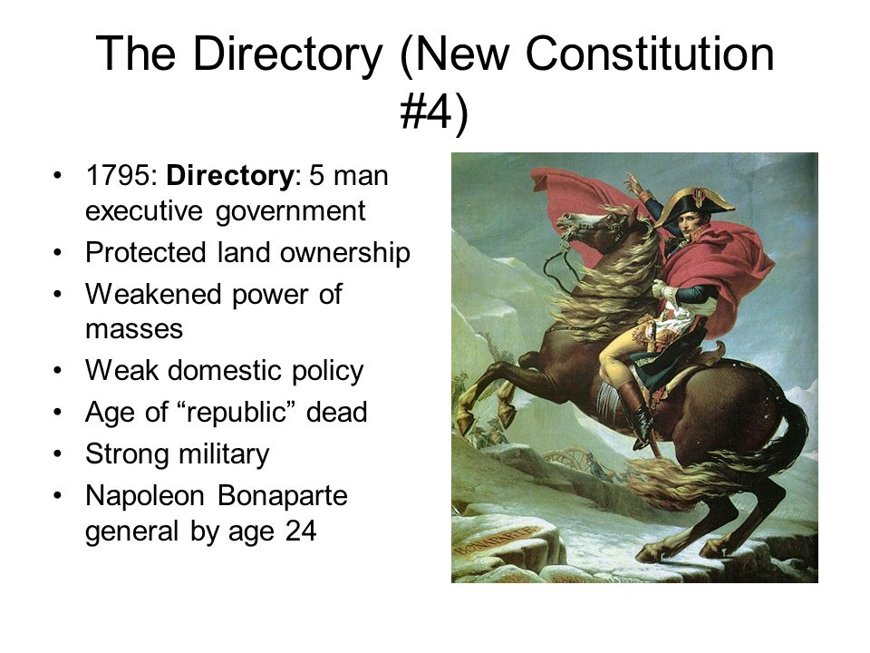 The Directory (New Constitution #4)