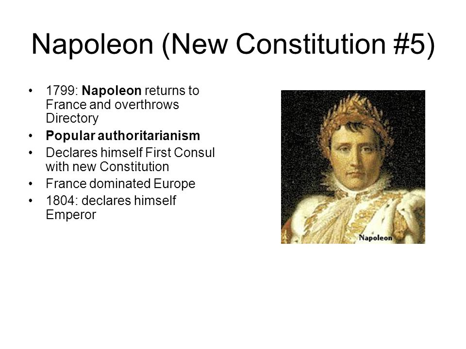 Napoleon (New Constitution #5)