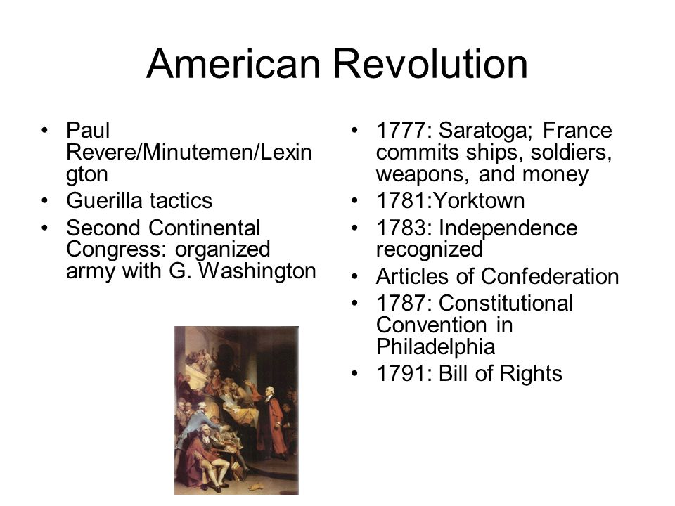 American Revolution Paul Revere/Minutemen/Lexington Guerilla tactics
