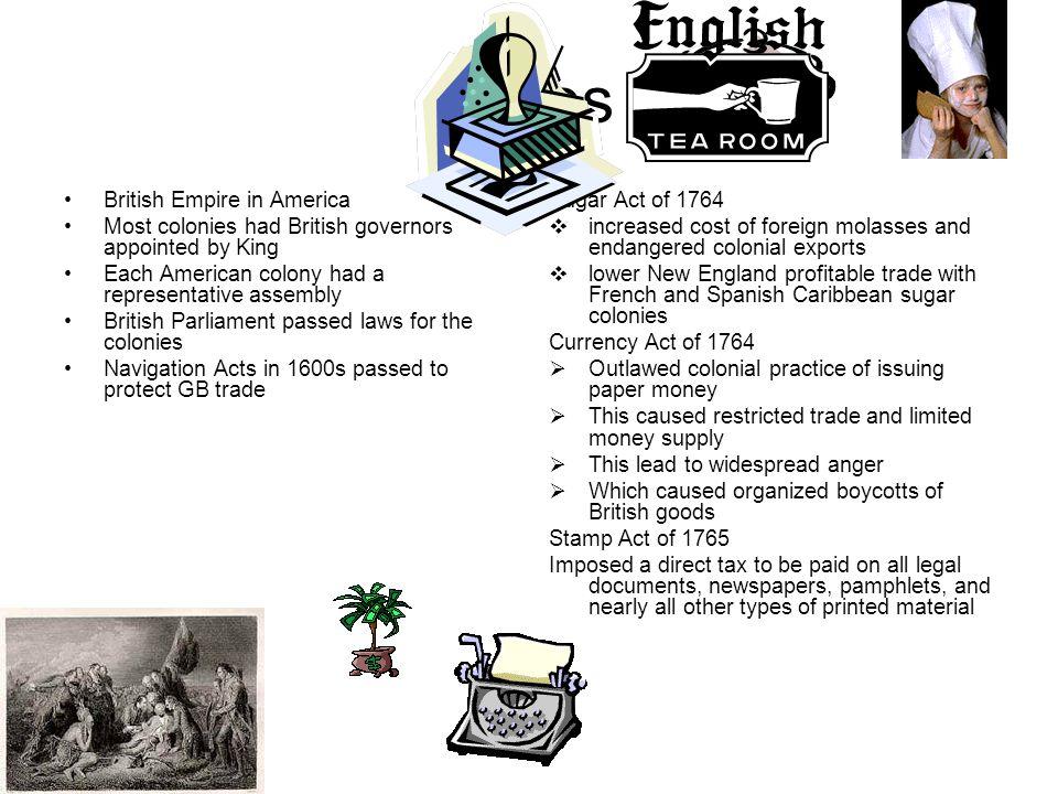 Notes British Empire in America