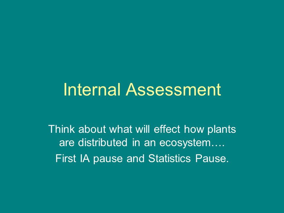 First IA pause and Statistics Pause.