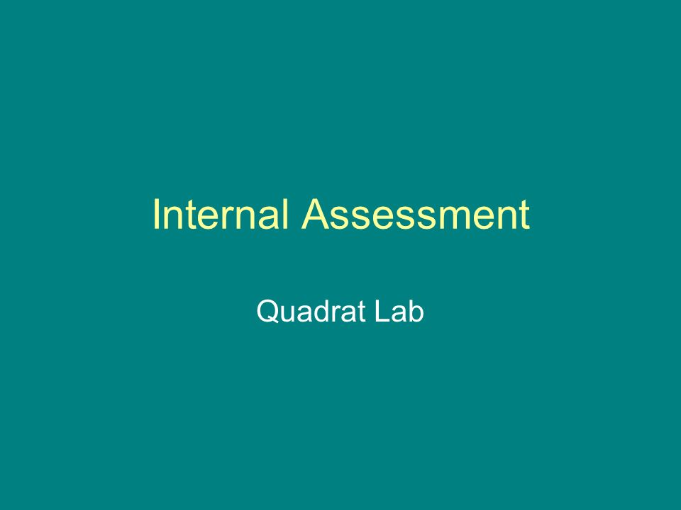 Internal Assessment Quadrat Lab