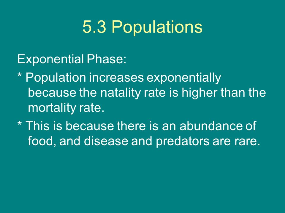 5.3 Populations Exponential Phase:
