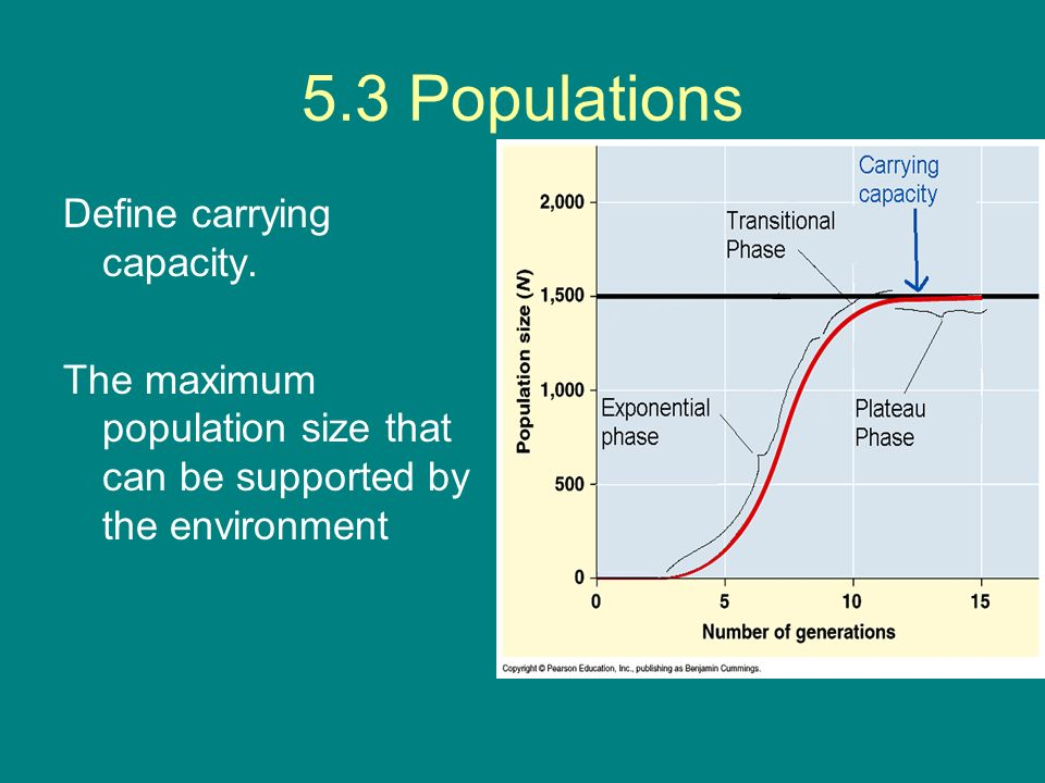 5.3 Populations Define carrying capacity.