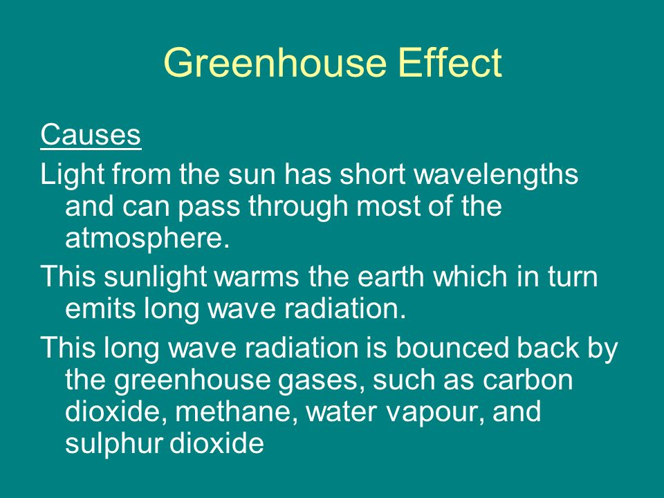 Greenhouse Effect Causes