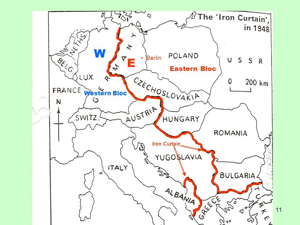 W E Berlin Eastern Bloc Western Bloc Iron Curtain
