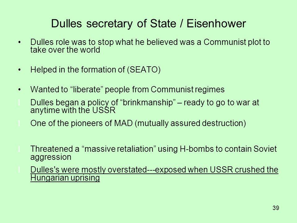 Dulles secretary of State / Eisenhower