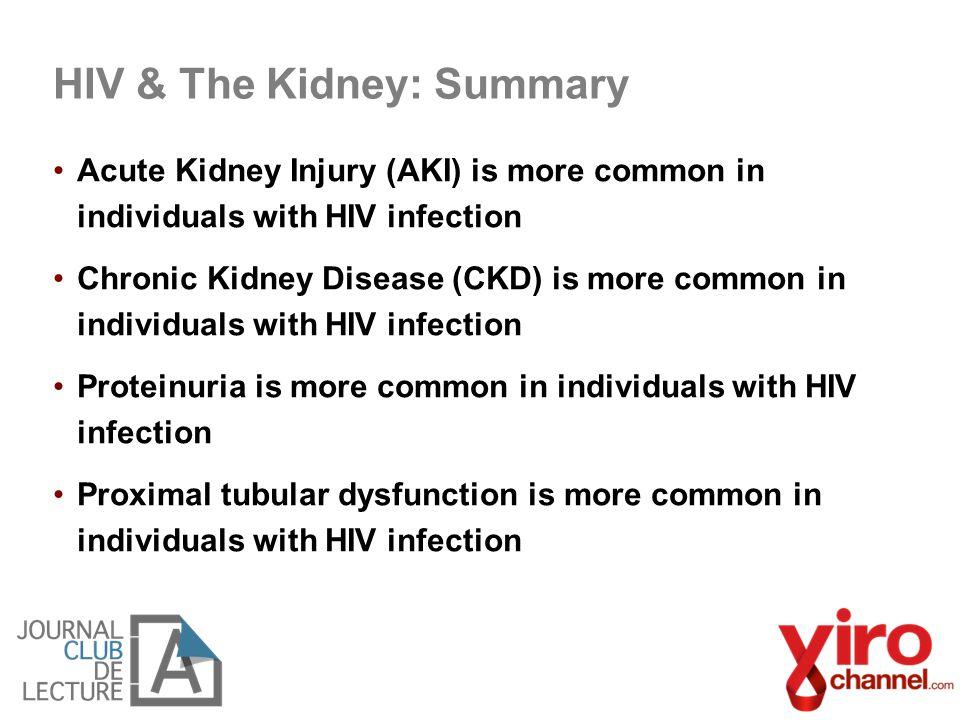 HIV & The Kidney: Summary