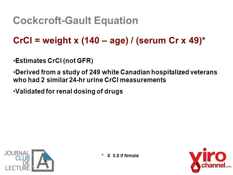 Cockcroft-Gault Equation