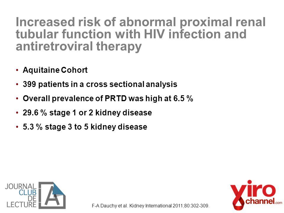 F-A Dauchy et al. Kidney International 2011;80:302-309.