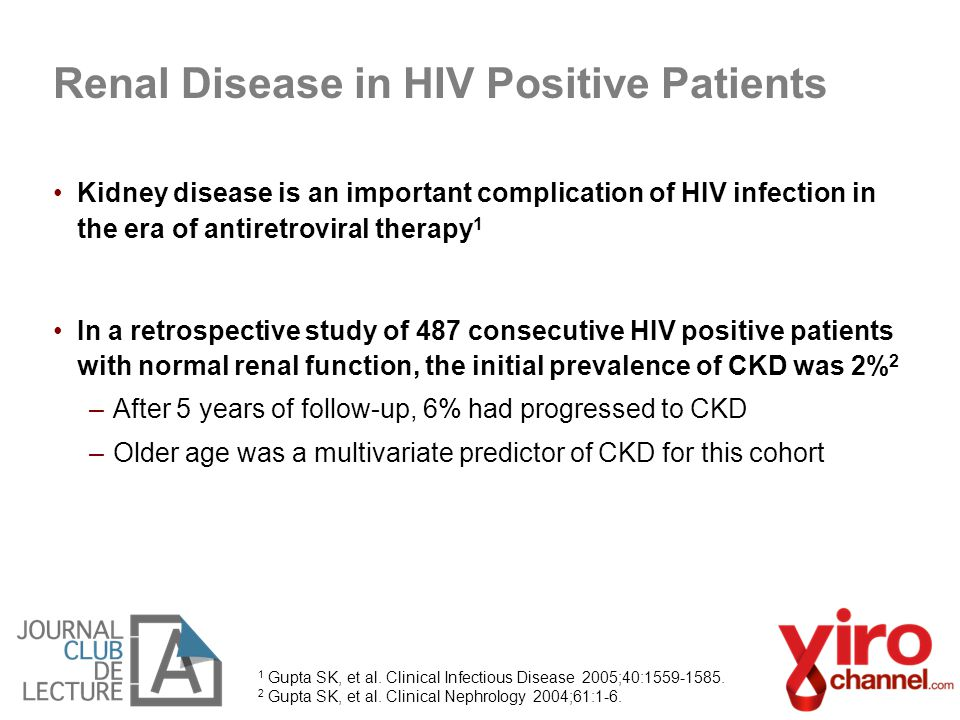 Renal Disease in HIV Positive Patients
