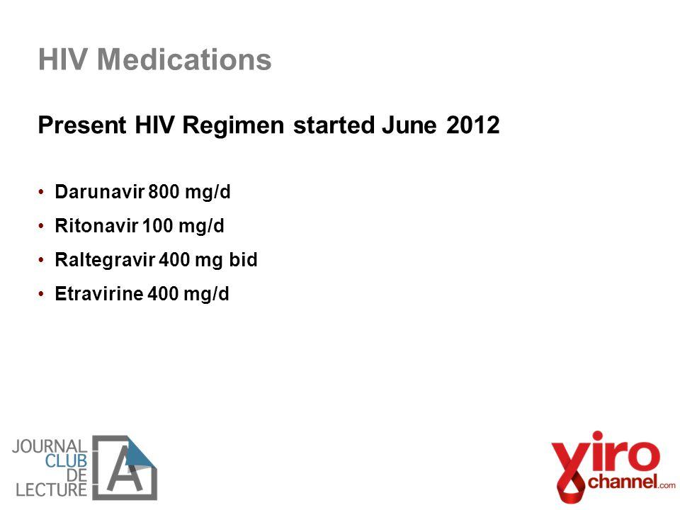 HIV Medications Present HIV Regimen started June 2012