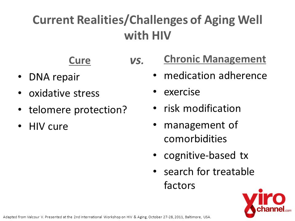Current Realities/Challenges of Aging Well with HIV