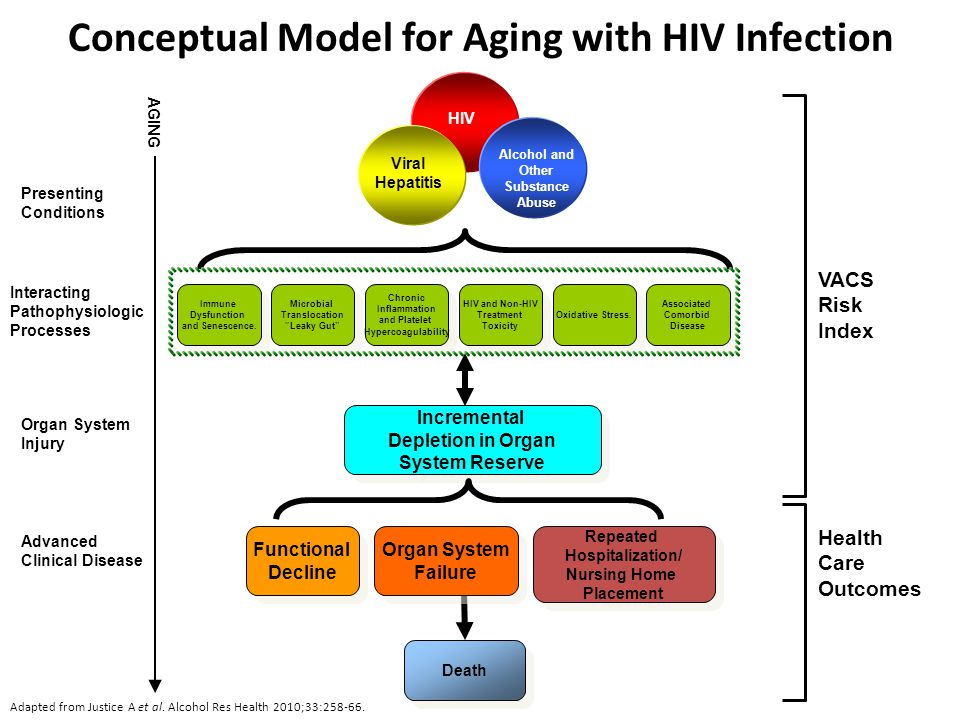 Conceptual Model for Aging with HIV Infection