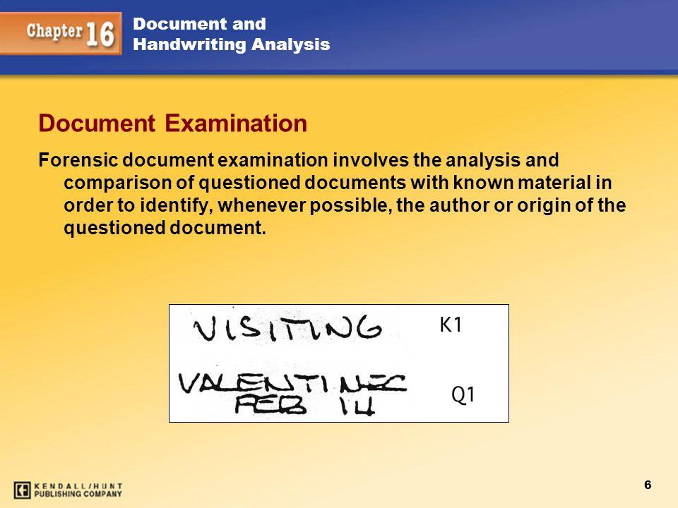 Chapter 15 Document Examination.