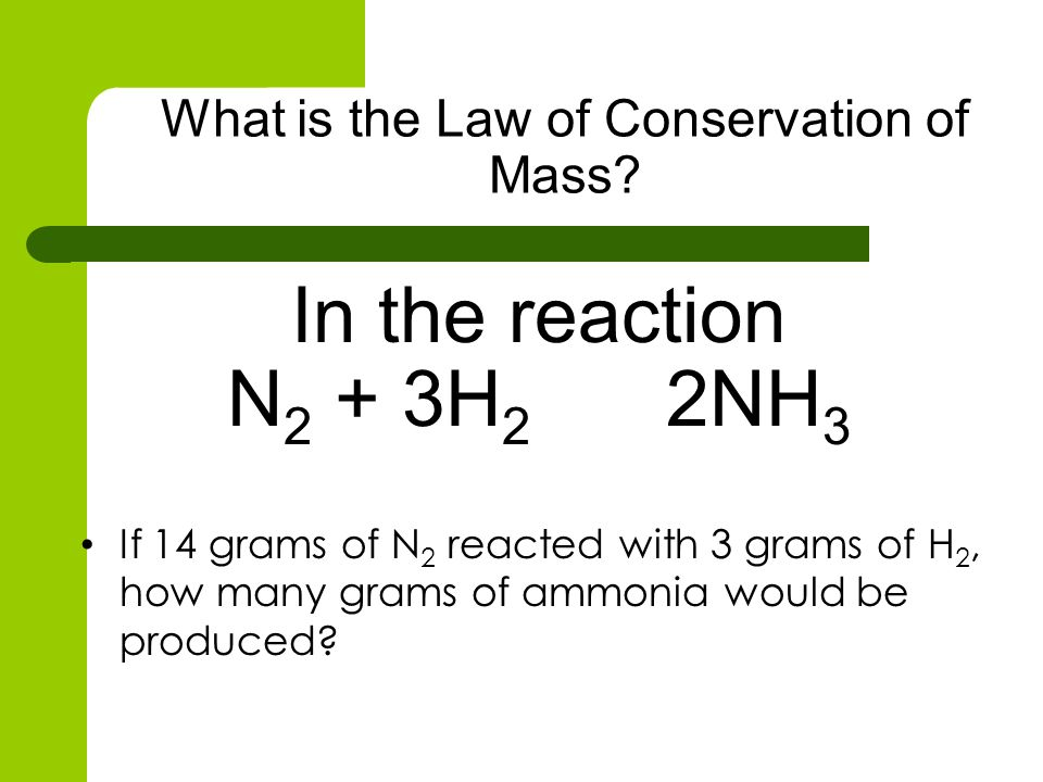 What is the Law of Conservation of Mass
