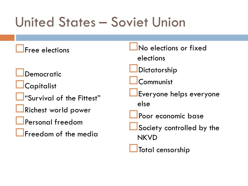 United States – Soviet Union