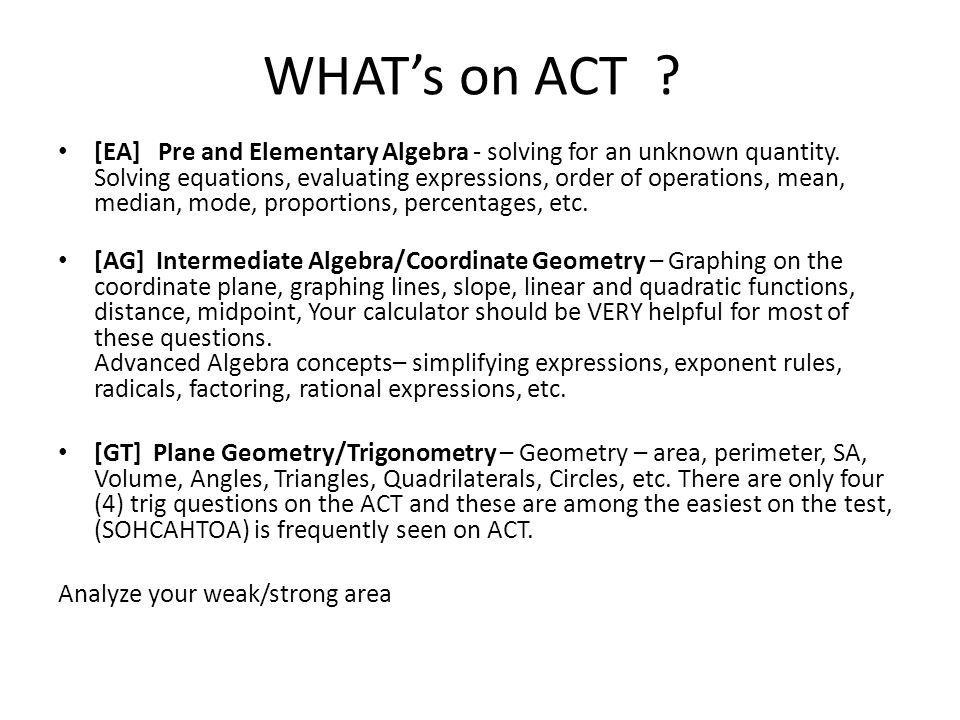 WHAT's on ACT