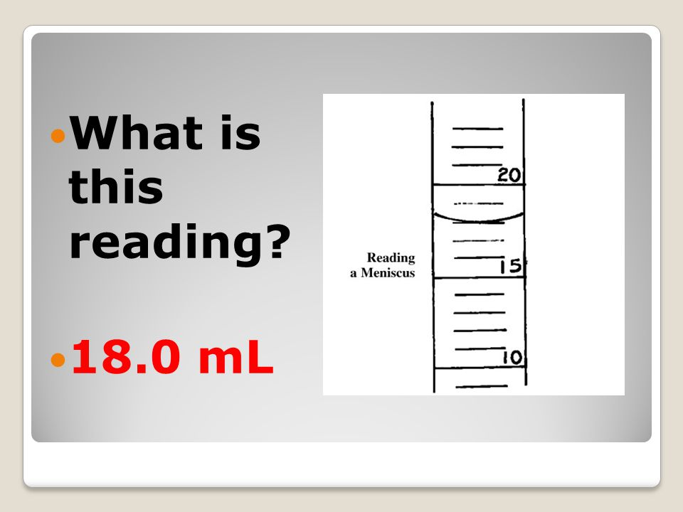 What is this reading 18.0 mL