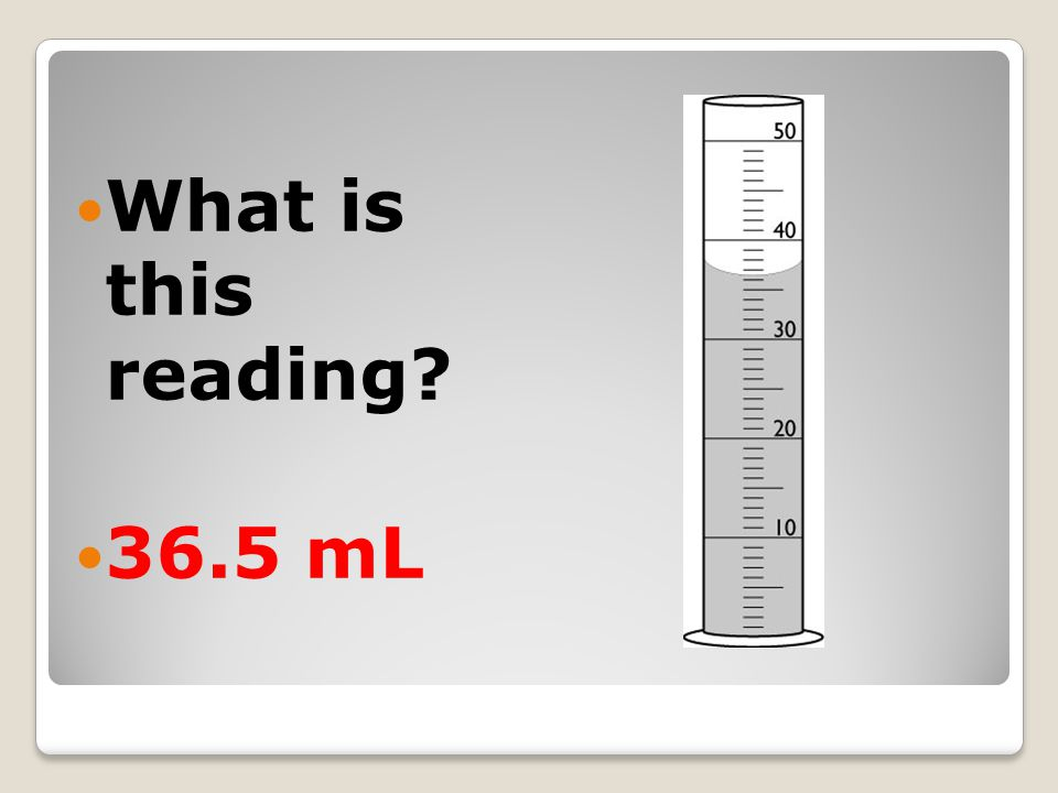 What is this reading 36.5 mL