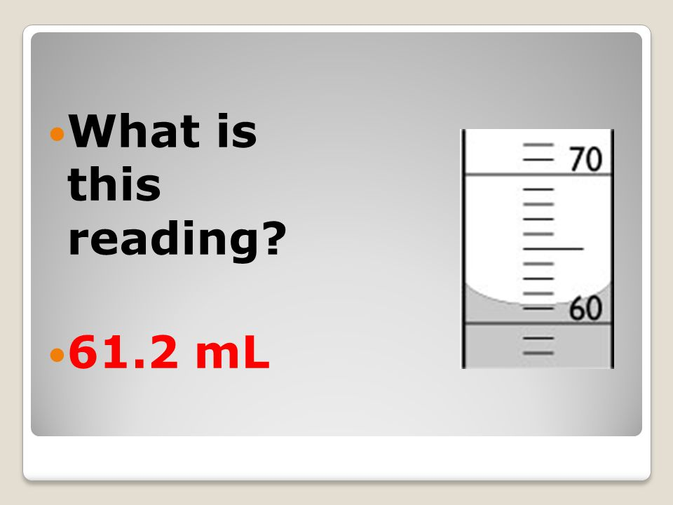 What is this reading 61.2 mL