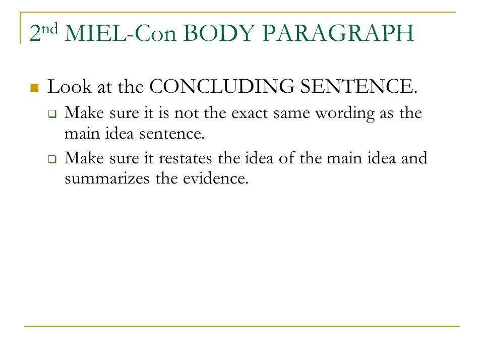 2nd MIEL-Con BODY PARAGRAPH