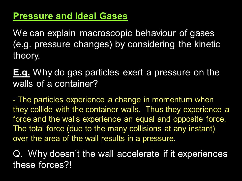 Pressure and Ideal Gases