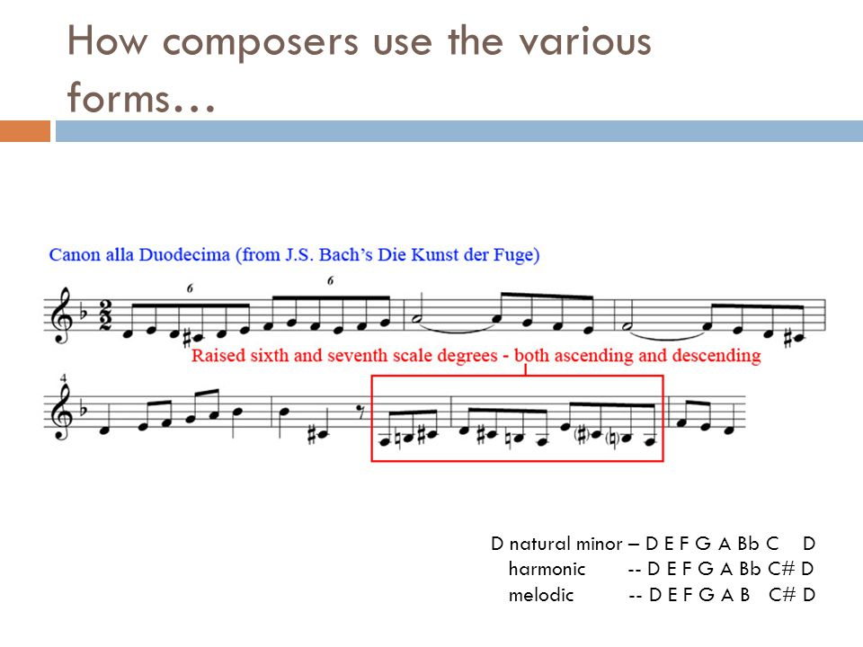 How composers use the various forms…