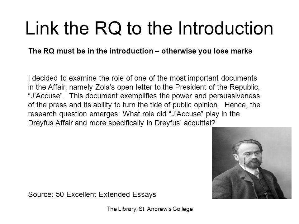 Link the RQ to the Introduction