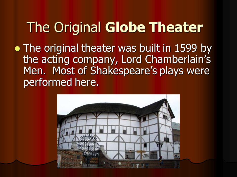 The Original Globe Theater