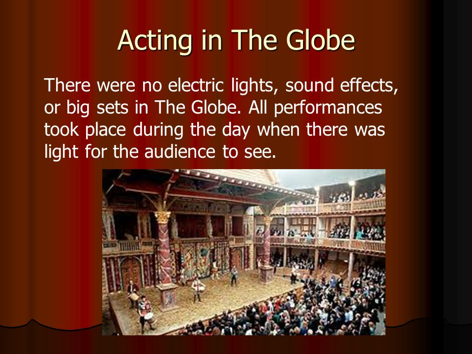 Acting in The Globe