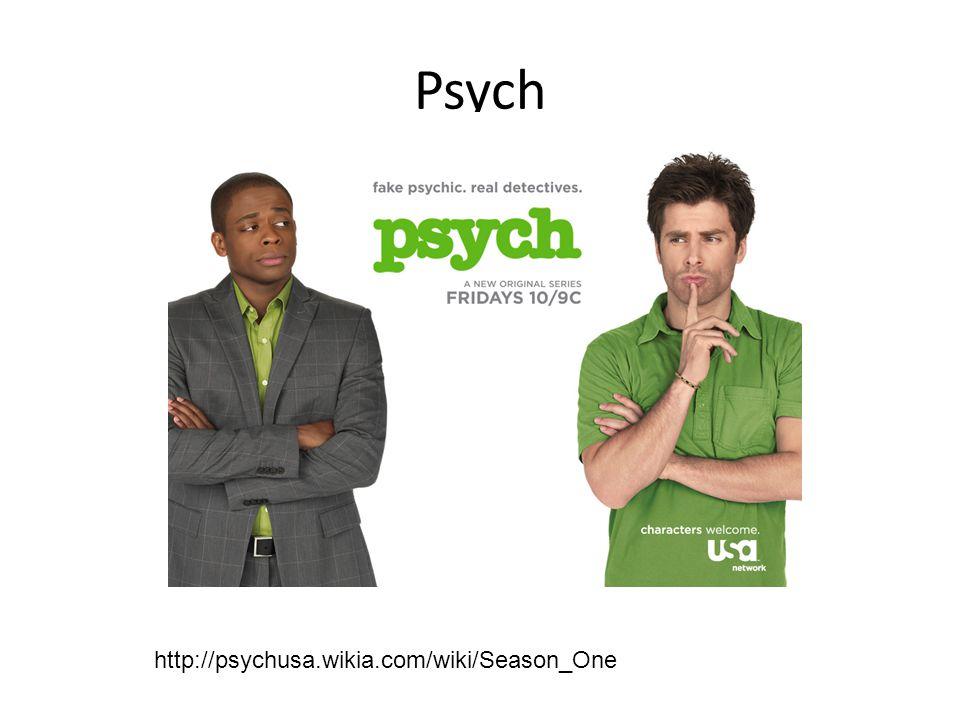 Psych http://psychusa.wikia.com/wiki/Season_One