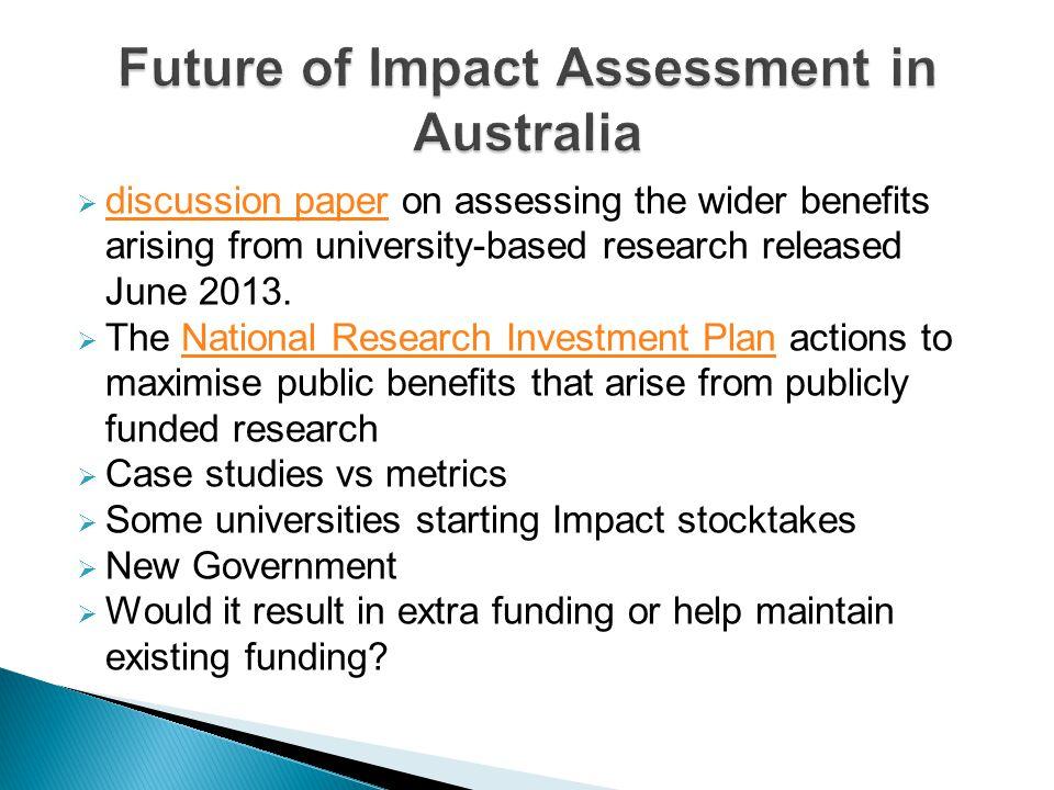 Future of Impact Assessment in Australia