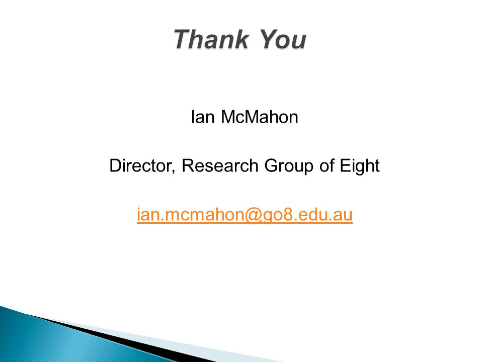 Director, Research Group of Eight
