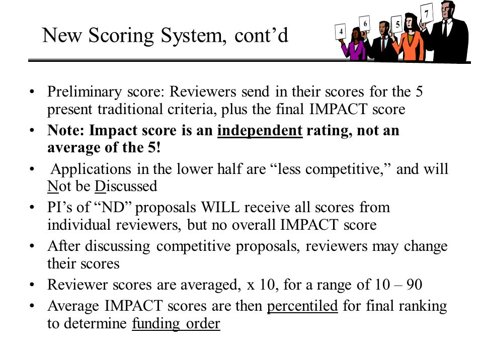 New Scoring System, cont'd