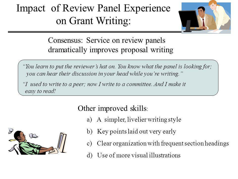 Impact of Review Panel Experience on Grant Writing: