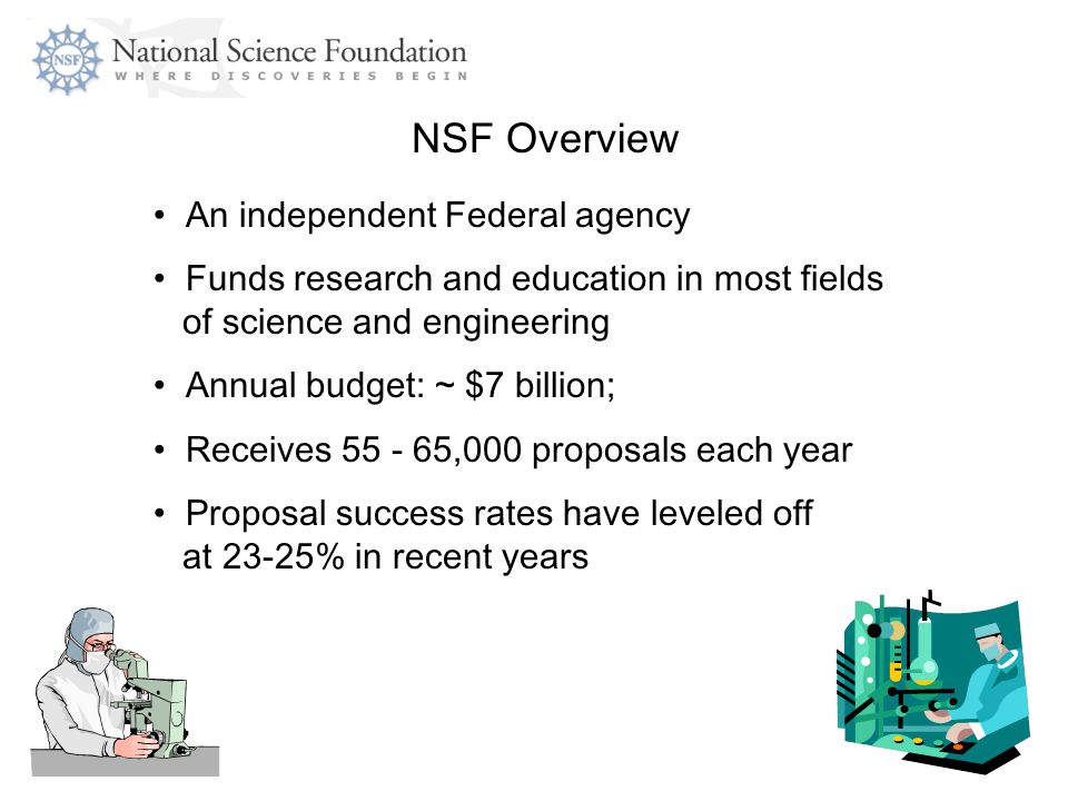 NSF Overview An independent Federal agency