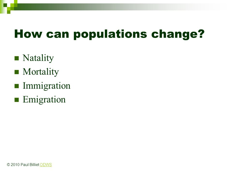 How can populations change