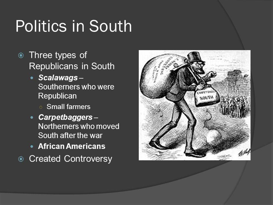 Politics in South Three types of Republicans in South