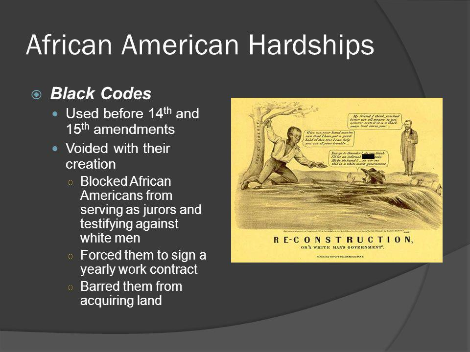 African American Hardships