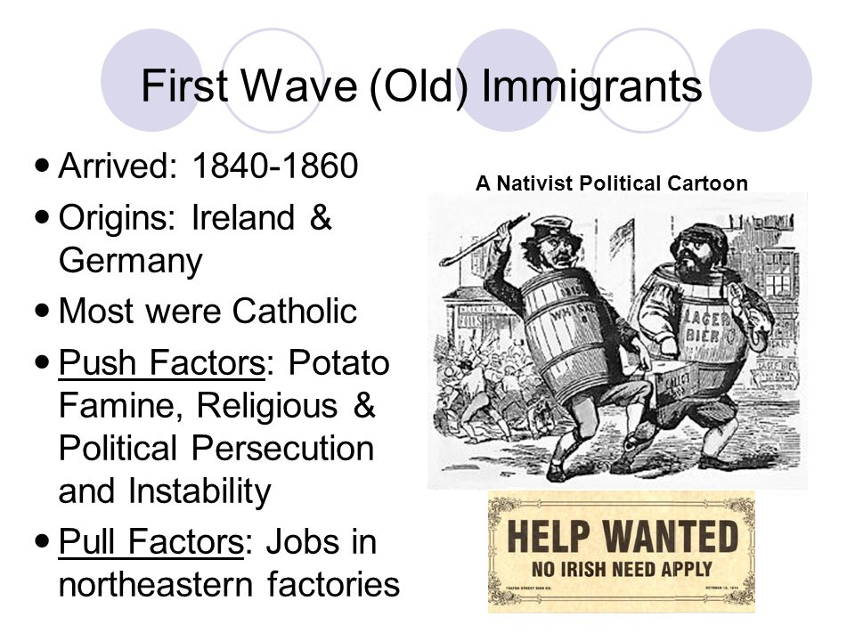 First Wave (Old) Immigrants