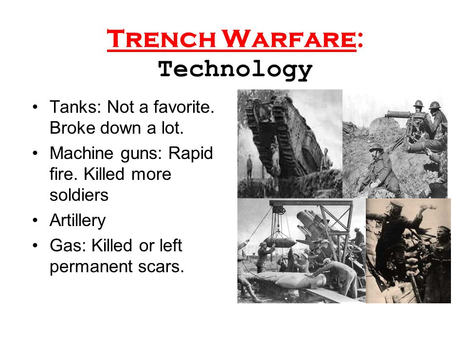 Trench Warfare: Technology