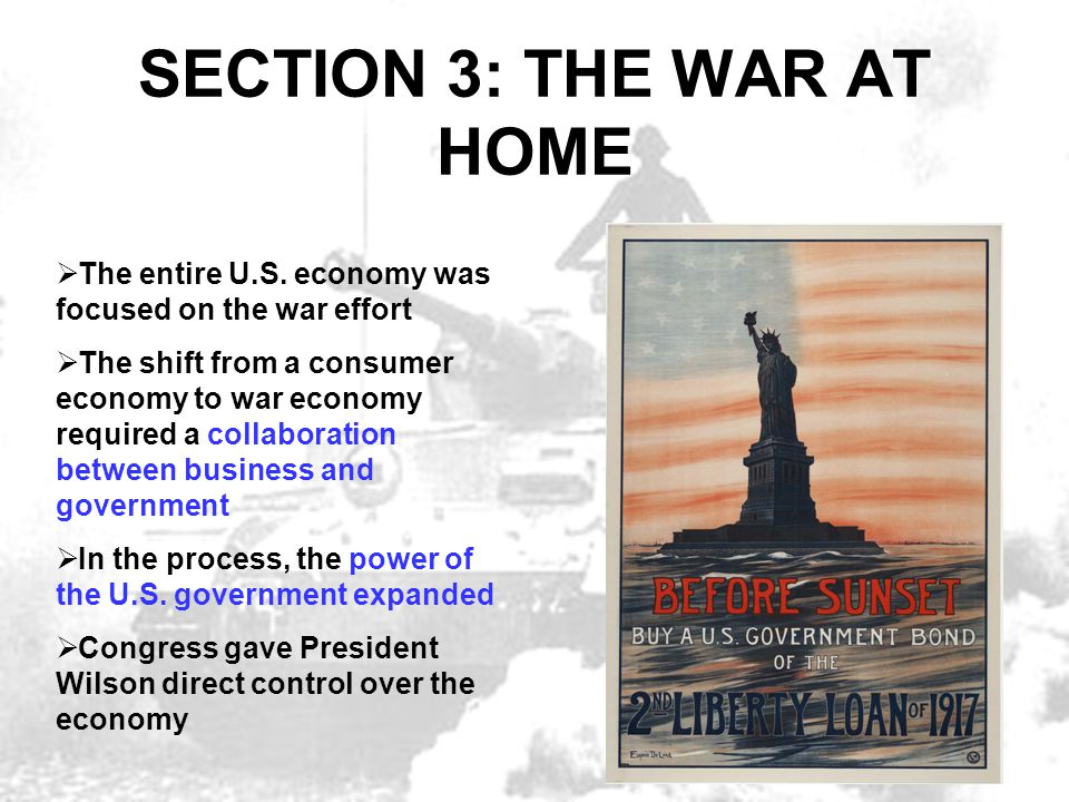 SECTION 3: THE WAR AT HOME