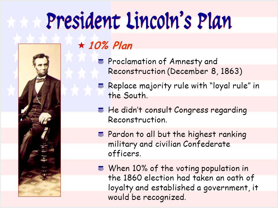 President Lincoln's Plan