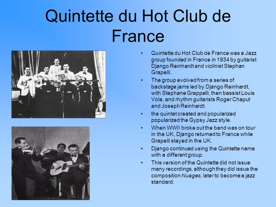 Quintette du Hot Club de France