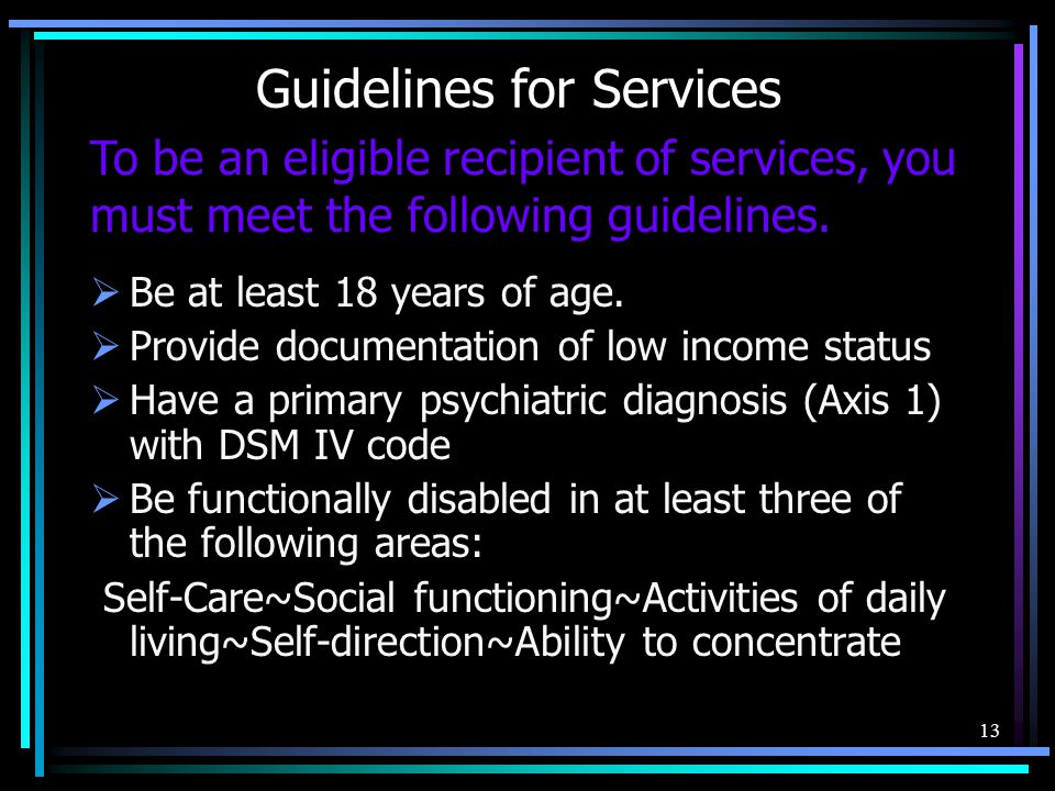 Guidelines for Services