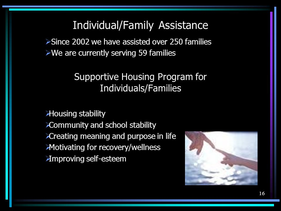 Individual/Family Assistance