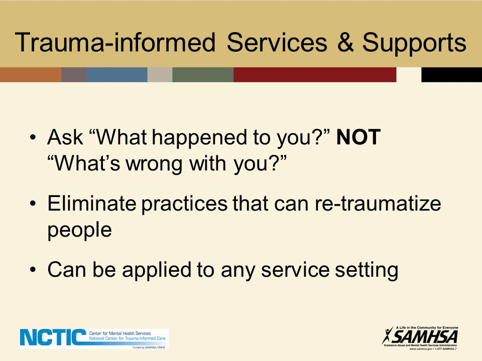 Trauma-informed Services & Supports