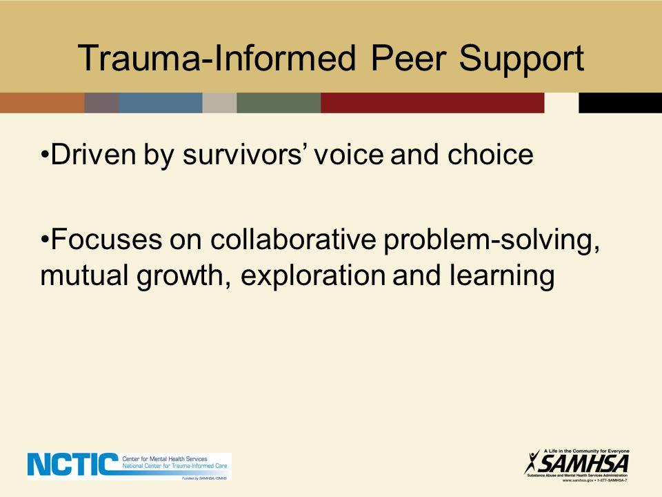 Trauma-Informed Peer Support
